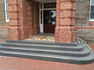 resurfaced steps by wespray on paving