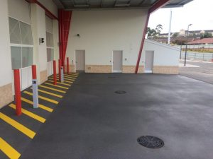 New paving at Albany Fire Station